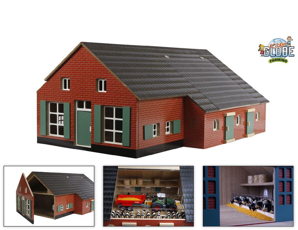 Dřevěný domeček a farma 1:32 Kids Globe