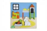 Puzzle dřevěné dětský pokoj v krabičce 14x20x2cm 18m+