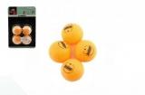 Míčky na stolní tenis/ping pong oranžové 4cm 4 ks na kartě