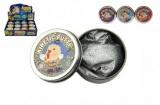 Hmota/modelína 40g inteligentní třpytivá glitter 6cm asst mix barev v plechové krabičce 24ks v boxu Teddies