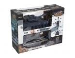 Tank RC 2ks 36cm+dobíjecí pack tanková bitva se zvukem se světlem v krabici Teddies