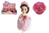 Panenka/Cupcake plast 15cm vonící asst 12 druhů v krabičce 12ks v boxu svatební edice