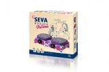 Stavebnice Seva Rodina Vaříme vařič+robot+mikrovlnná trouba plast 682 dílků v krabici 35x33x8,5cm