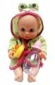 Panenka Bambolina s kachničkou a kojeneckou lahvičkou 33 cm Alltoys