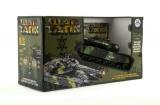 Tank RC plast 25cm s dobíjecím packem+adaptér na baterie asst 2 druhy v krabici Teddies