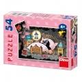 Minipuzzle Krtek 19,8x13,2cm 8 druhů 54 dílků v krabičce 9x7x3cm 40ks v boxu Dino