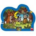 Puzzle deskové Krtek Večer u Krtečka kontura 36x28cm 25 dílků Dino