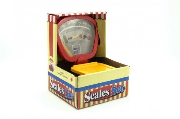 Váha kuchyňská mechnická plast asst 2 barvy v krabici 17x23cm Teddies