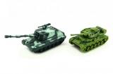 Tank plast 11cm asst 2 barvy na setrvačník 12ks v boxu
