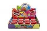 Zuby na natažení plast 6cm 12ks v boxu Teddies