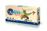 Mechanik Hugo staví Vrtulník Seva stavebnice s nářadím 130ks plast v krabici 31x16x7cm
