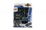 Robot/auto policie transformer plast 17cm asst 2 barvy v krabici 21x27x7,5cm Teddies