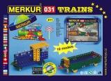 Stavebnice Merkur 031 Železniční modely 10 modelů 211ks v krabici Merkur Toys