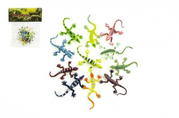 Ještěrky/hmyz plast 7cm asst mix barev v sáčku Teddies