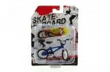Skateboard prstový s kolem plast 10cm asst mix druhů na kartě