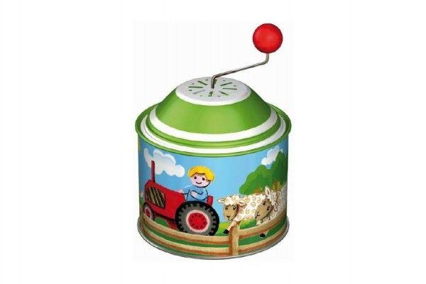 Hrající skříňka mlýnek farma kov 8cm 12ks v boxu 18m+ Lena