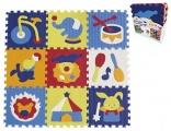 Pěnové puzzle cirkus 9ks 32x32x1cm SMT Creatoys