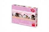 Puzzle koťátka pod dekou panoramic 66x23cm 150 dílků v krabici 27x19x4cm