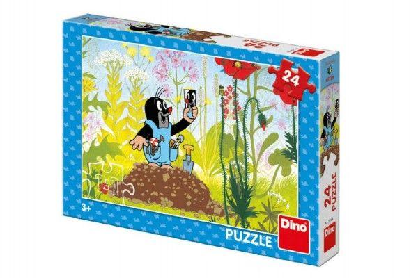 Puzzle Krtek v kalhotkách 24 dílků 26x18cm v krabici 27x19x4cm Dino