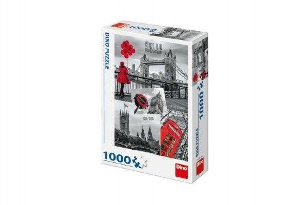 Puzzle Londýn - koláž 1000 dílků 47x66cm v krabici 23x32x7cm Dino