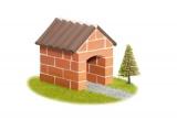 Stavebnice Teifoc Chatka v krabici 18x8x8cm Směr