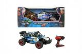 Auto RC buggy modré plast 28cm s dálkovým ovládáním na baterie v krabici 44x19x22cm