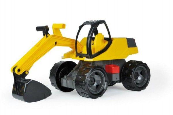 Bagr žlutočerný Giga Trucks plast 80cm v krabici 70x35x29cm Lena