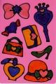 Okenní barvy třpytivé pro holčičky 6ks + předlohy na kartě 21x28x2cm SMT Creatoys