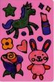 Okenní barvy třpytivé zvířátka 6ks + předlohy na kartě 21x28x2cm SMT Creatoys