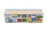 Pěnové pexeso/dílky vláček 21ks 30x7,5x8,5cm