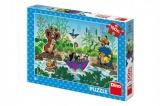 Puzzle Krtek Krtečkova plavba 47x33cm 100 dílků XL v krabici 27x19x4cm