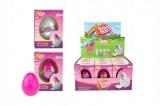 Rostoucí vejce jednorožec plast 6cm asst 2 barvy v krabičce 7x10x5cm 12ks v boxu