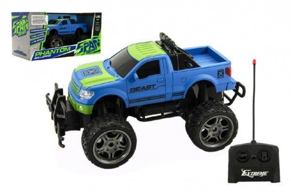 Auto RC terénní plast 30cm velká kola na dálkové ovládání na baterie v krabici 37x20x19cm Teddies