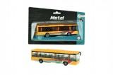 Autobus městský kov/plast 15cm na zpětné natažení na kartě
