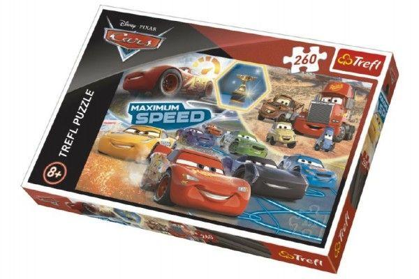 Puzzle Cars 3 koláž 260 dílků 60x40cm v krabici 40x27x4cm Trefl