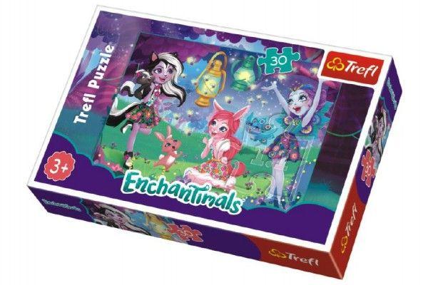 Puzzle Enchantimals 30 dílků v krabičce 21x14x4cm Trefl