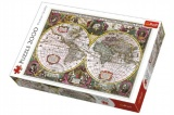 Puzzle Mapa Světa rok 1630 2000 dílků 96x68cm v krabici 40x27x6cm