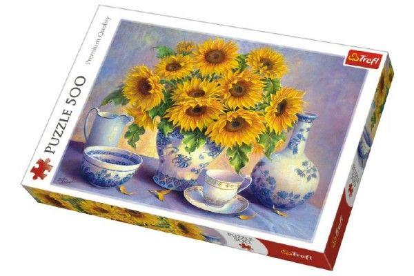 Puzzle Slunečnice malované 500 dílků 48x34cm v krabici 40x27x4,5cm Trefl