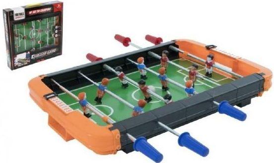 Stolní fotbal kovová táhla v krabici 44x43x7cm Teddies