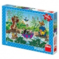 Puzzle Krtek Krtečkova plavba 47x33cm 100 dílků XL v krabici 27x19x4cm Dino