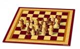 Šachy dřevěné společenská hra v krabici 33x23x3cm Bonaparte