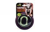 Zuby svítící upír 5cm na kartě karneval Teddies