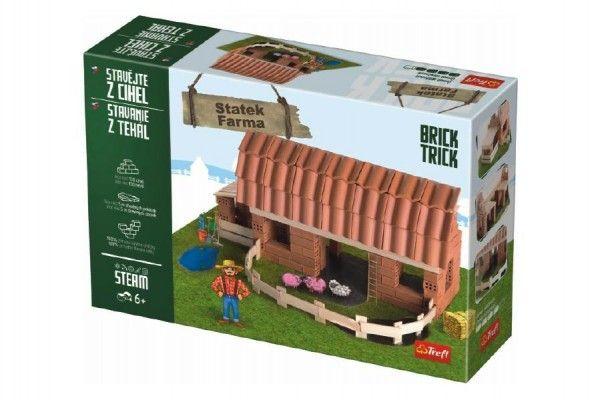 Stavějte z cihel Statek stavebnice Brick Trick v krabici 40x27x9cm Trefl