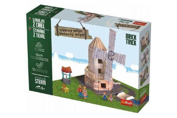 Stavějte z cihel Větrný mlýn stavebnice Brick Trick v krabici 36x25x7cm Trefl