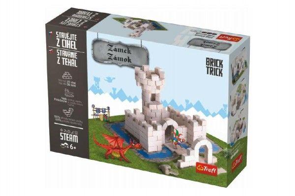 Stavějte z cihel Zámek stavebnice Brick Trick v krabici 32x23x7cm Trefl