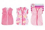 Taška/obleček na spaní látková pro miminko velikost +-30cm asst 3 barvy na kartě 25x38cm