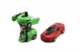 Auto robot/transformer plast 12cm asst 4 barvy na setrvačník 8ks v boxu
