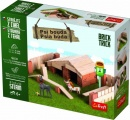 Stavějte z cihel Psí bouda stavebnice Brick Trick v krabici 28x21x7cm Trefl