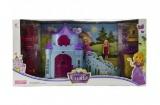 Zámek pro princezny s doplňky plast v krabici 53x27x10cm