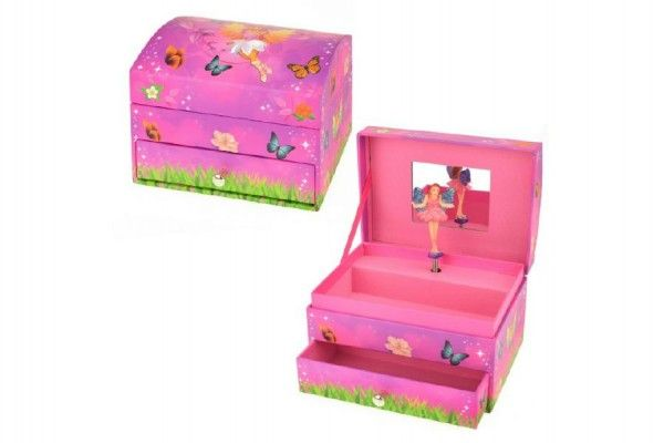 Hrací skříňka šperkovnice víla 14x10x10cm Teddies